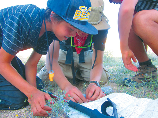 MIddle School Students Wilderness Navigation