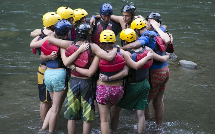 whitewater skills for young adults