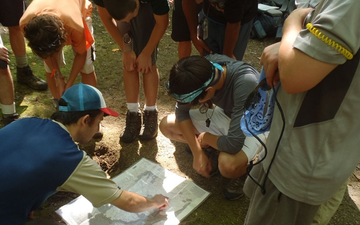 struggling youth learn navigation skills