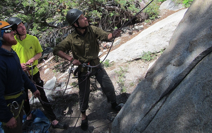 rock climbing expedition in california