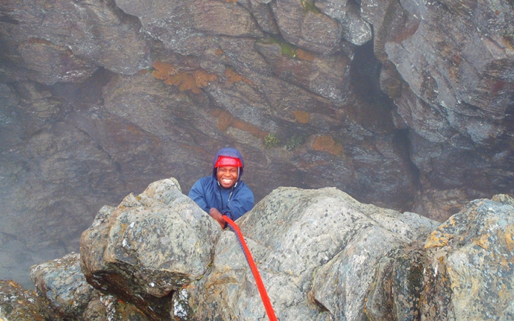 guided outdoor rock climbing