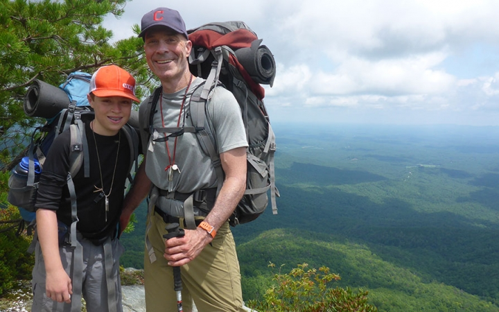 guided backpacking for families
