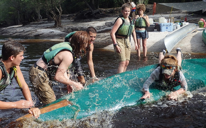 wilderness camp for struggling teens