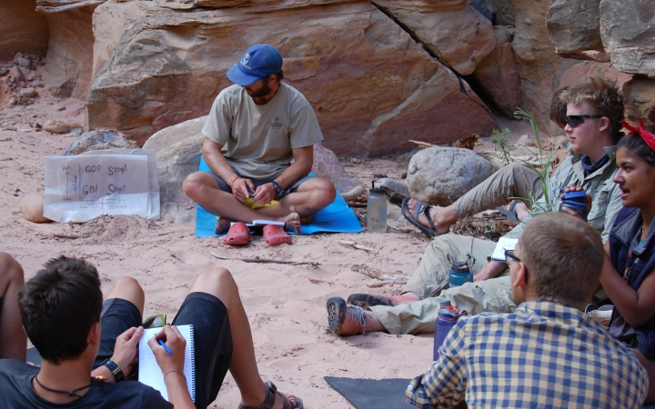 backpacking instruction in the southwest