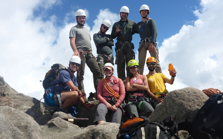 learn how to rock climb during gap year