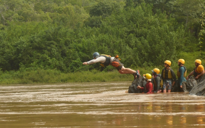 earn Whitewater Rescue certification on gap year course