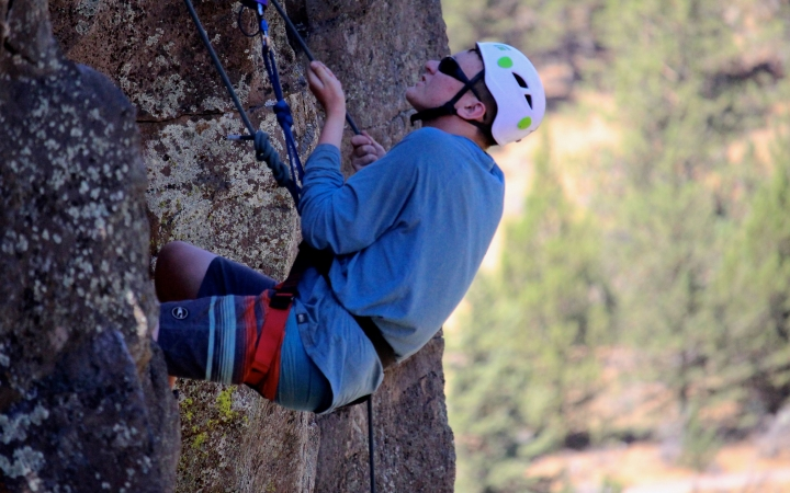rock climbing with outdoor leadership school