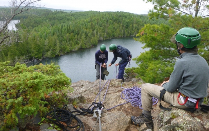boundary waters rock climbing for struggling teens