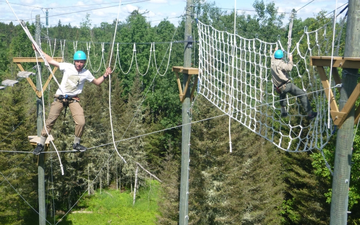 boundary waters ropes course for struggling teens