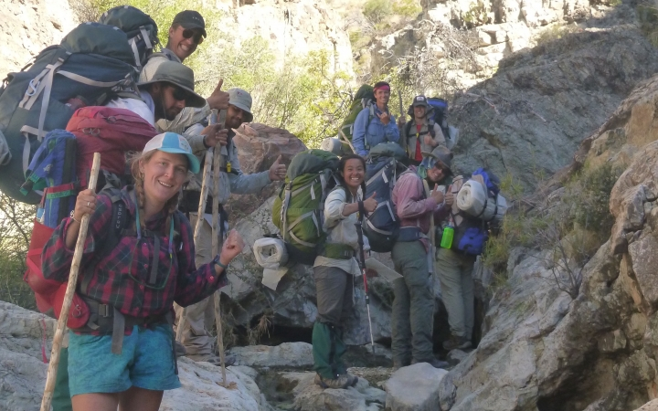 texas big bend backpacking trip for young adults