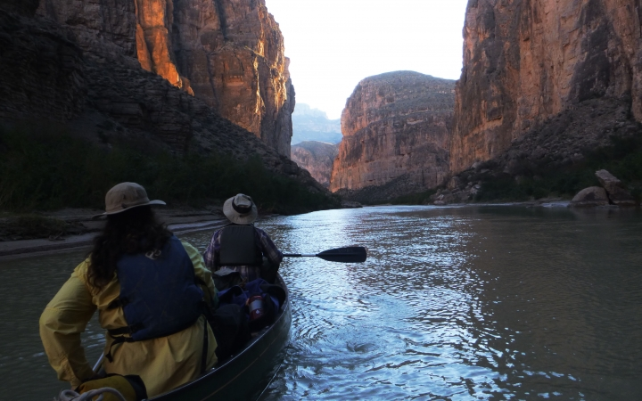 texas big bend whitewater canoeing trip for young adults