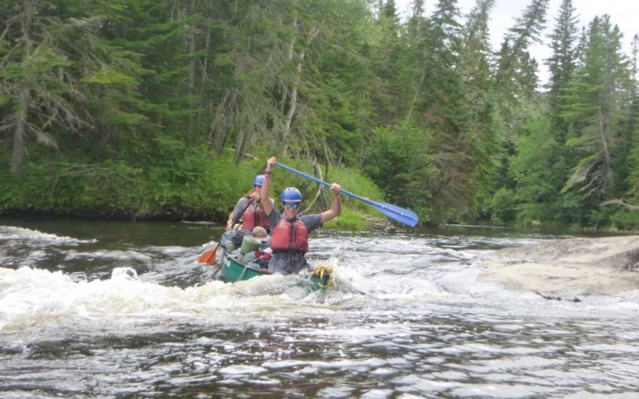 whitewater canoeing trip for adults in maine
