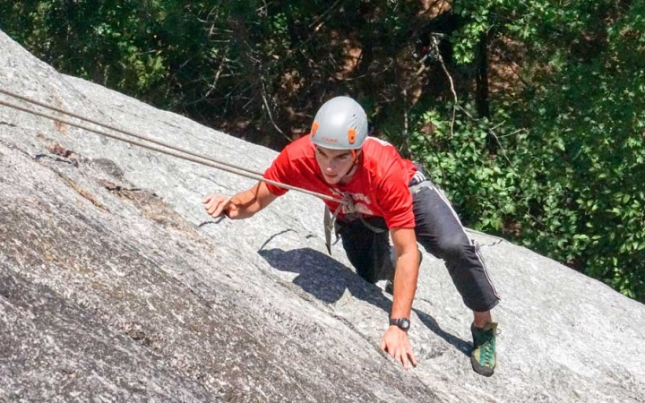 rock climbing trip for adults in maine