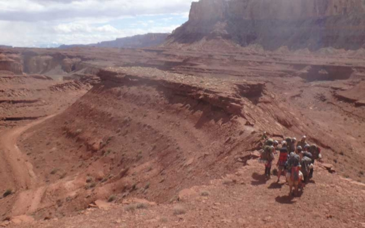 southwest backpacking trip for young adults