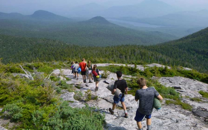adults only backpacking trip in maine