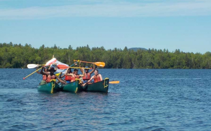 canoeing adventure for adults in maine