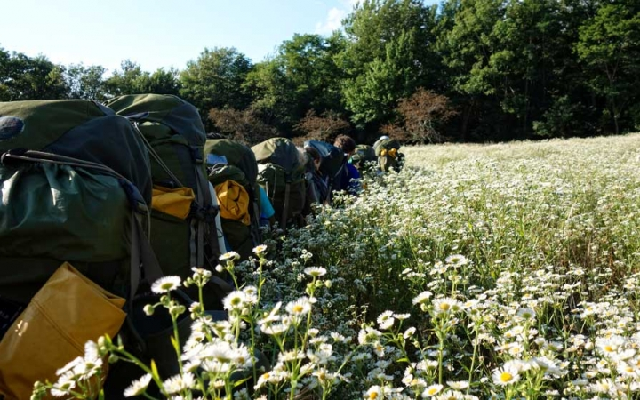 adults backpacking trip in north carolina