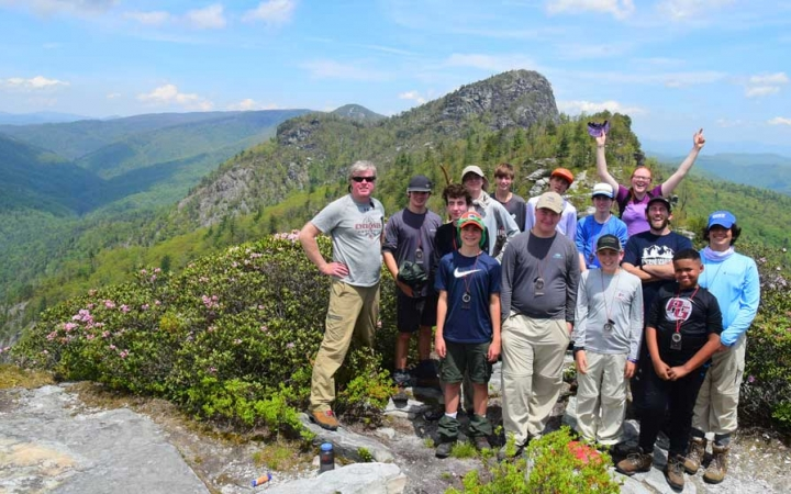 backpacking course for teens in north carolina