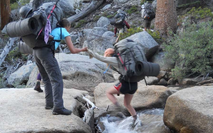 backpacking trip for girls