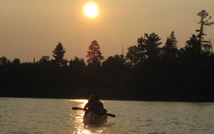 canoeing in the boundary waters for teens