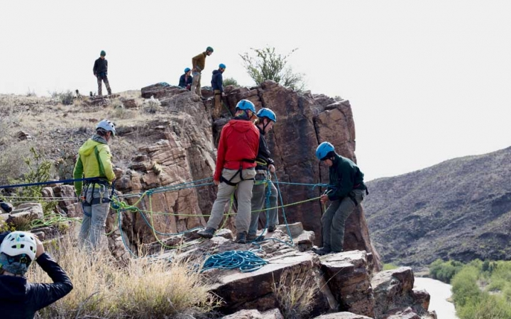 texas big bend rock climbing trip for adults