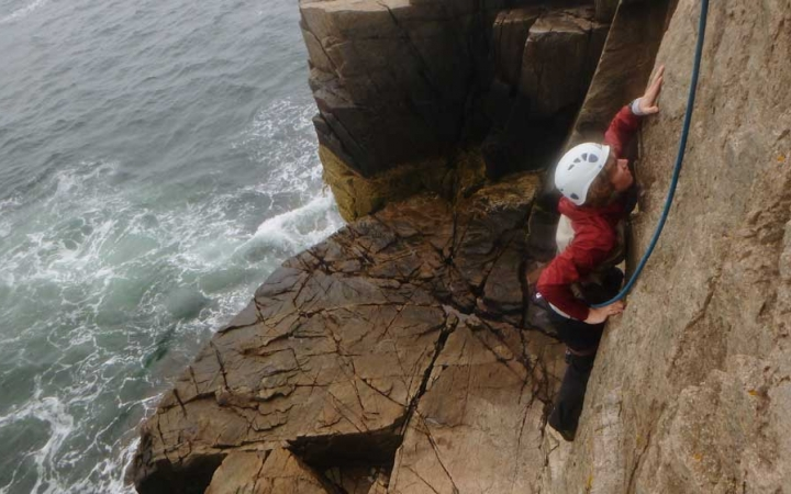 adults only rock climbing course in maine