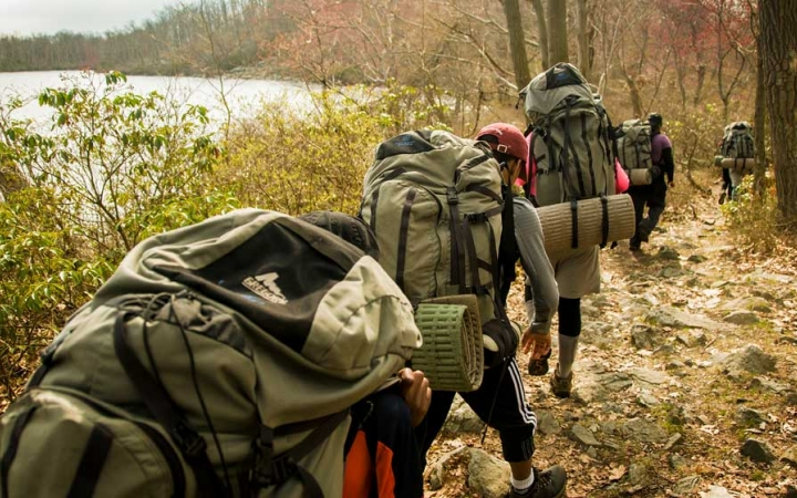 adults only backpacking trip